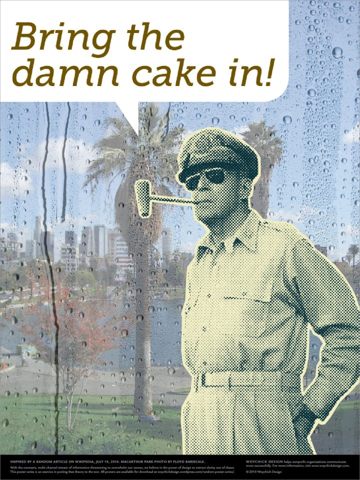 Picture of General Douglas MacArthur in MacArthur Park.
