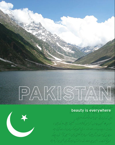 "Picture of mountains in Pakistan with the title ""Pakistan: beauty is everywhere."""