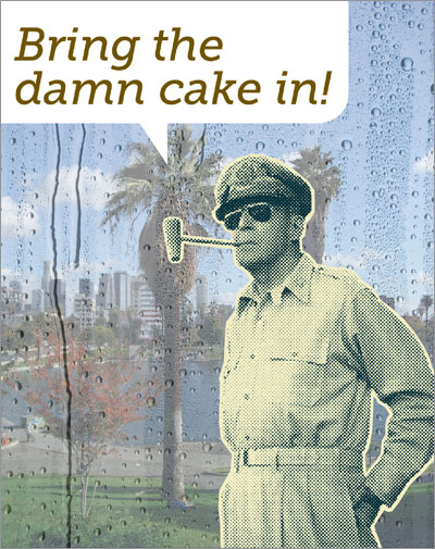 Picture of General Douglas MacArthur in MacArthur Park.