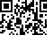 Close-up of QR code in magazine table of contents