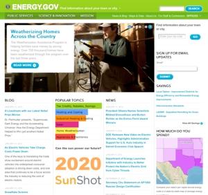Image of Energy.gov website