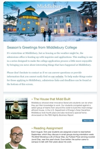 Image of Middlebury College e-blast