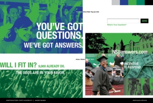 Mood board for Northeastern State University student recruitment campaign